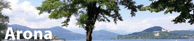 Panorama del lago di Arona